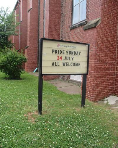An Affirming congregation #pei #charlottetown #princestreet #trinityunitedchurch #latergram #lgbt