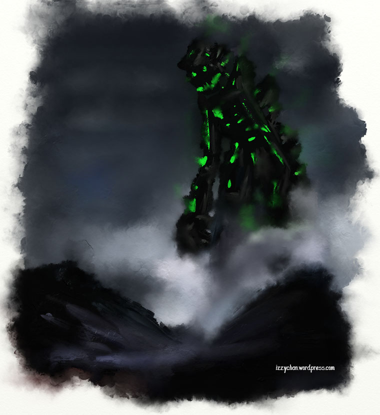 green giant artrage smoky cloudy fog
