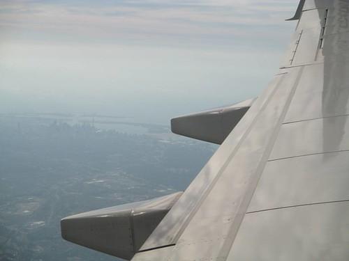 Looking back #toronto #torontoislands #aerial #flight #latergram #skyline