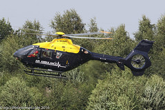 G-WONN - 2007 build Eurocopter EC135 T2+, inbound to the Heliport at Barton