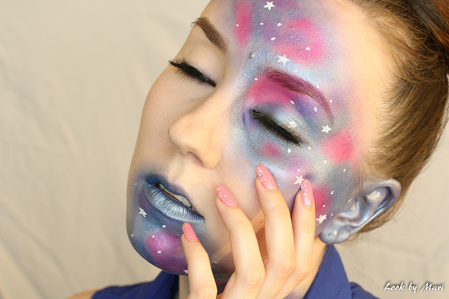 1 Galaxy makeup tutorial halloween