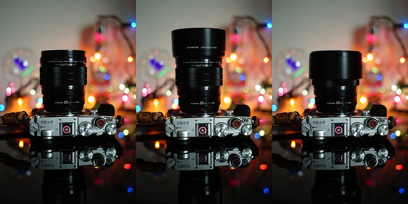 Olympus 25mm f1.2 PRO|LH-66B Lens hood