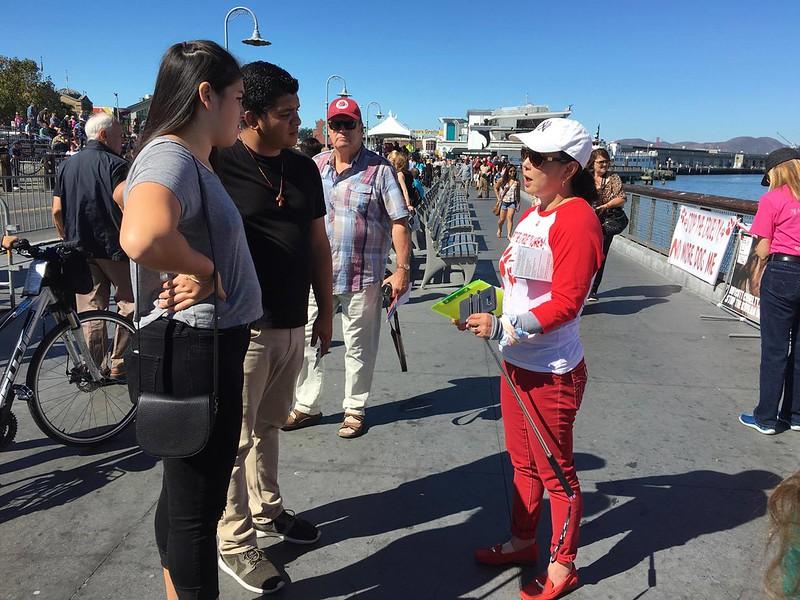 San Francisco, Fisherman's Wharf Leafleting Event – September 24, 2016