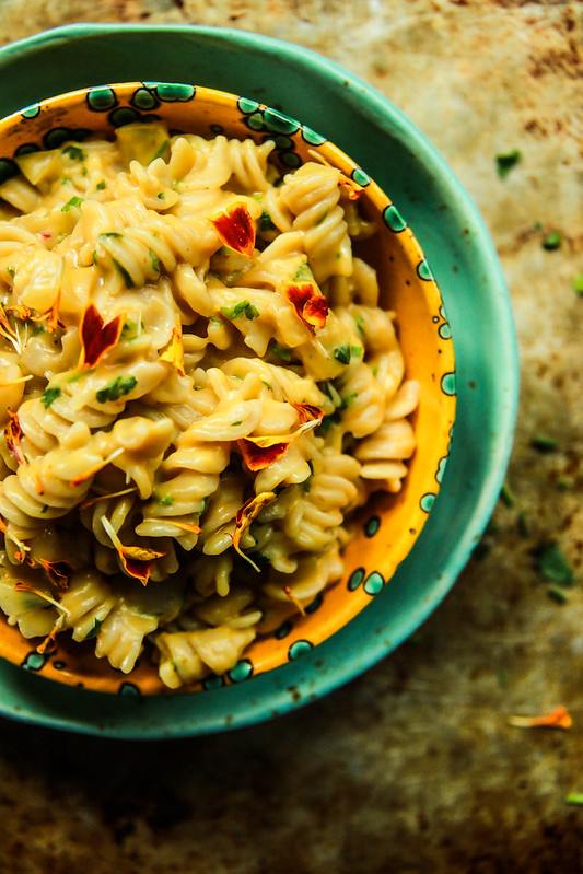 One Pot Pumpkin Pasta- gluten free and vegan from HeatherChristo.com