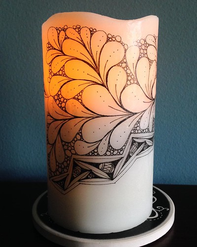 Tangled candle