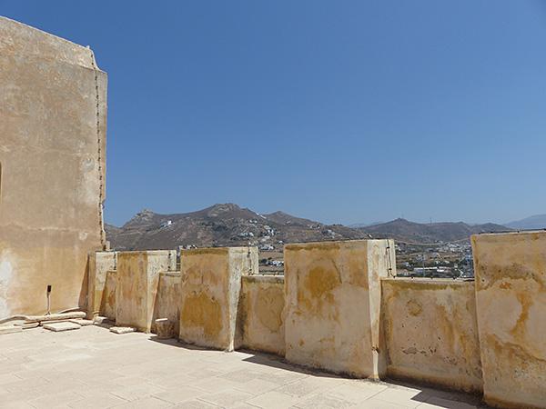 depuis la terrasse du musée archéologique de Naxos