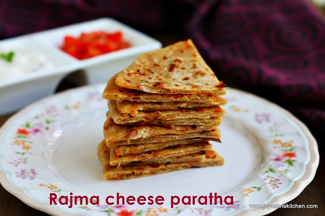 Rajma cheese paratha