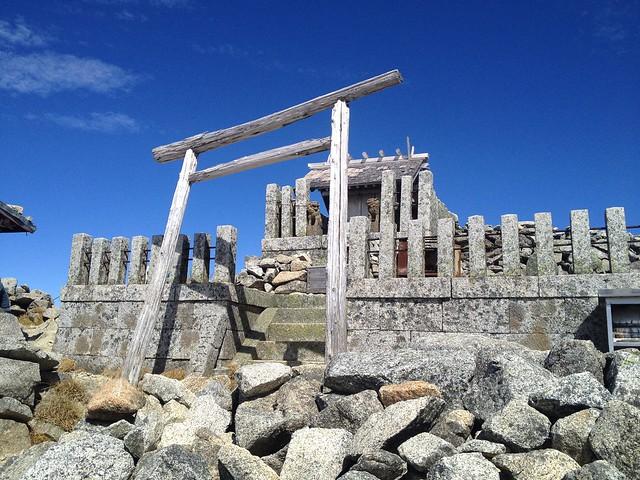 木曽駒ヶ岳 山頂 木曽駒ヶ嶽神社