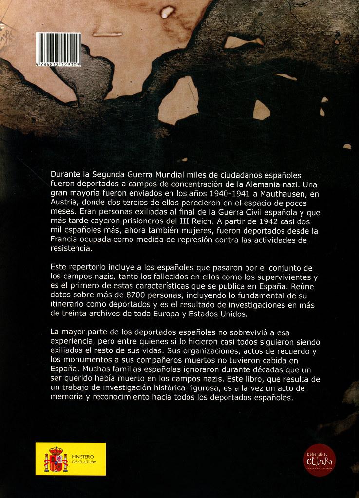 BERMEJO, Benito y CHECA, Sandra. Libro memorial. Españoles deportados a los campos nazis (1940-1945). Madrid: Ministerio de Cultura, Subdirección General Publicaciones, Información y Documentación, 2006. p.332.