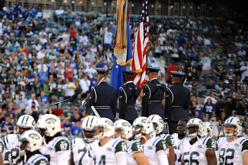 Honor Guard perform at NFL game during Air Force Week | by Official U.S. Air Force