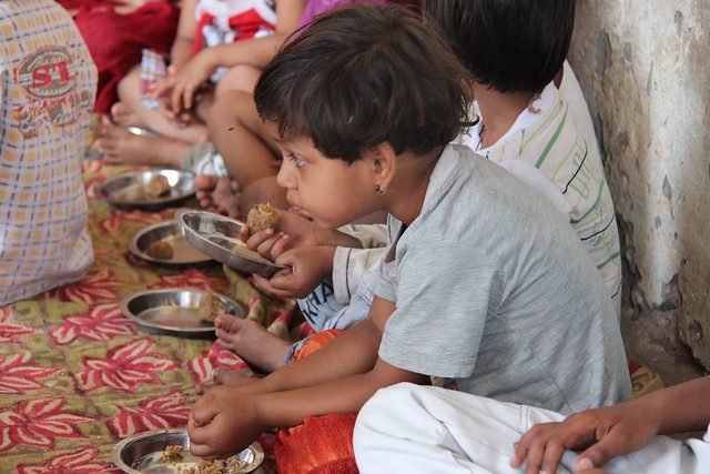 Children Eating, India
