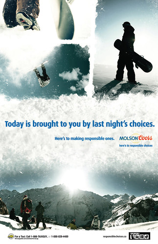 Molson Coors Campus Snow Boarder Poster | by Molson Coors Canada