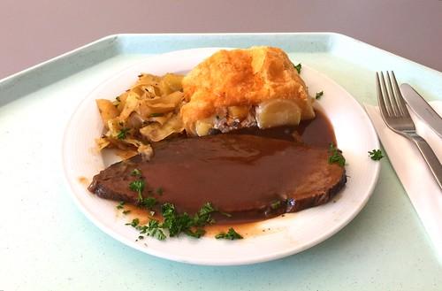 Allgau roast beef with potato strudel & bavarian cole slaw / Allgäuer Ochsenbraten mit Kartoffelstrudel & bayrisch Kraut