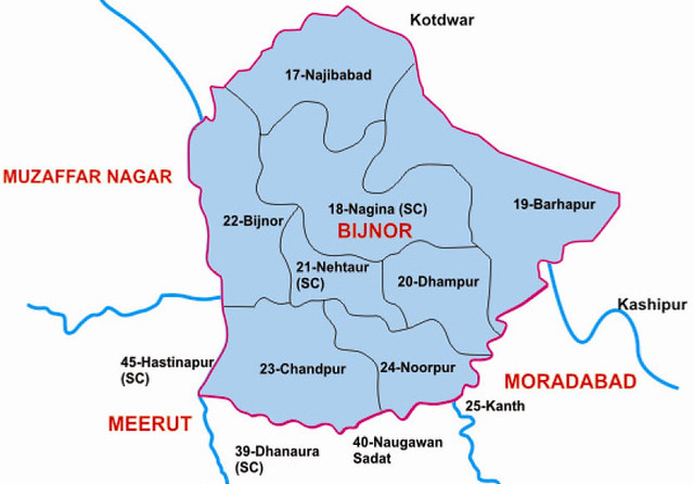 Bijnor district Uttar Pradesh Election 2017