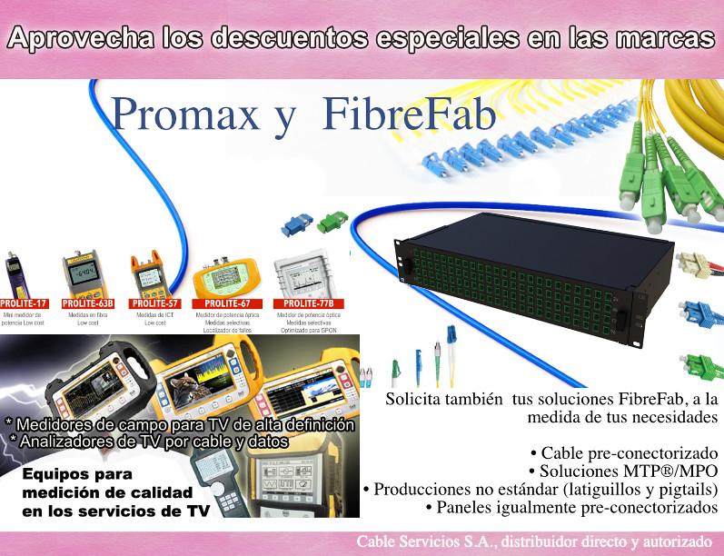 Promoción equipos de medición y fibra óptica