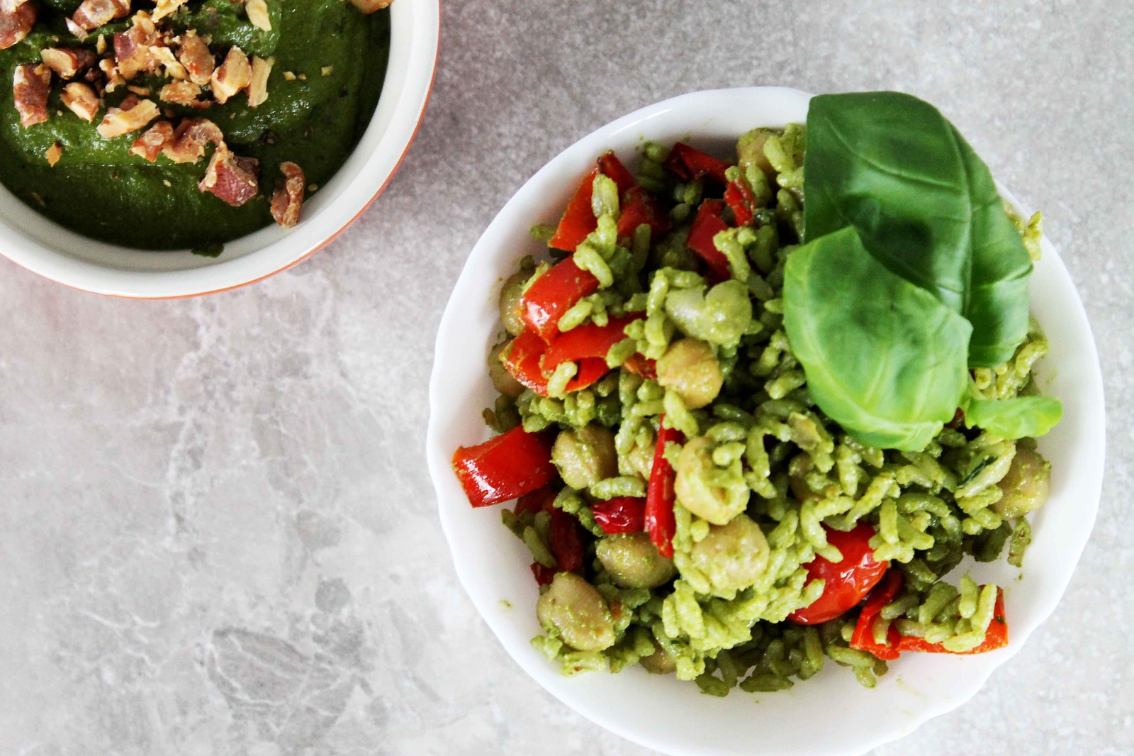 roasted walnut spinach pesto