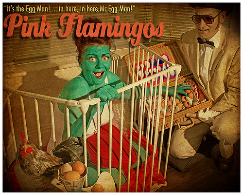 pink flamingos poster | by blue beany