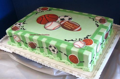 Edible Sheet Cake Toppers
