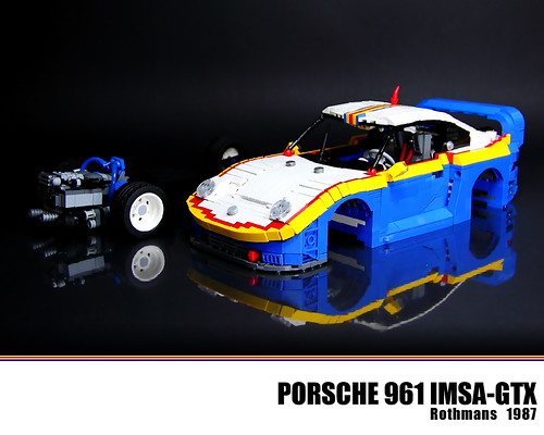 lego porsche 961 rothmans the porsche 961 was a racing. Black Bedroom Furniture Sets. Home Design Ideas