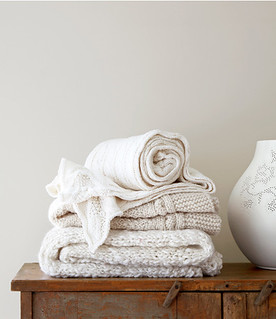 white knitted home accessories | by the style files