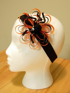 halloween headband with spider | by Angie Cakes