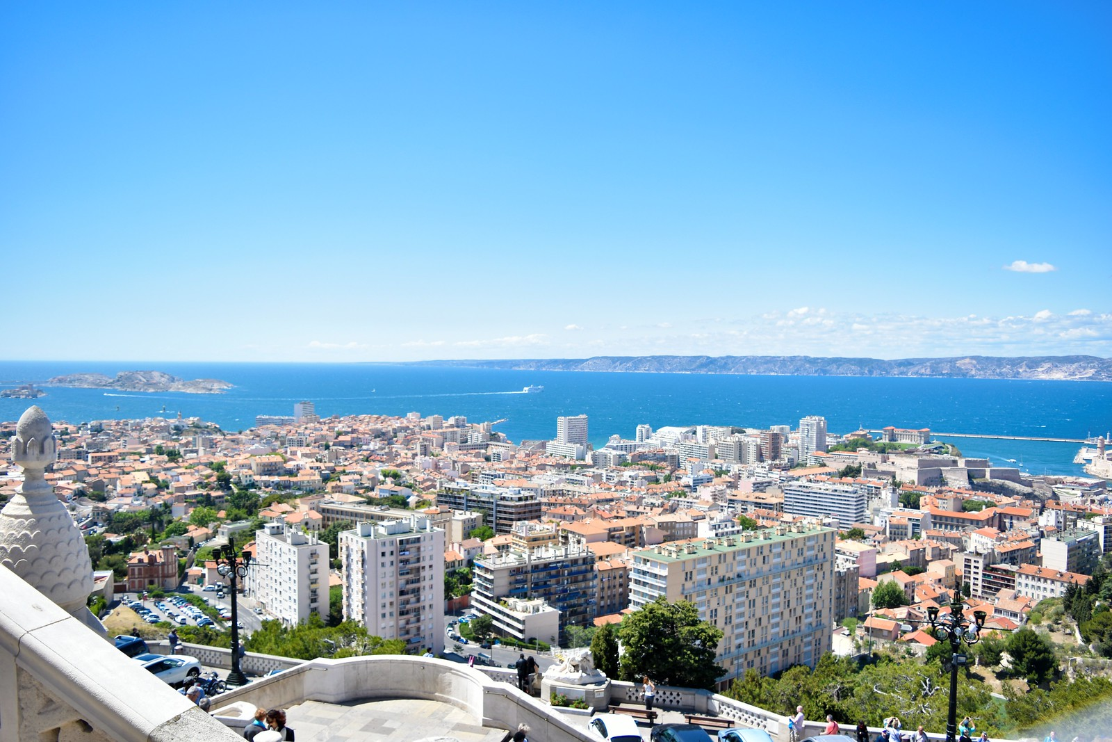 view of Marseille from the Notre Dame de la Garde