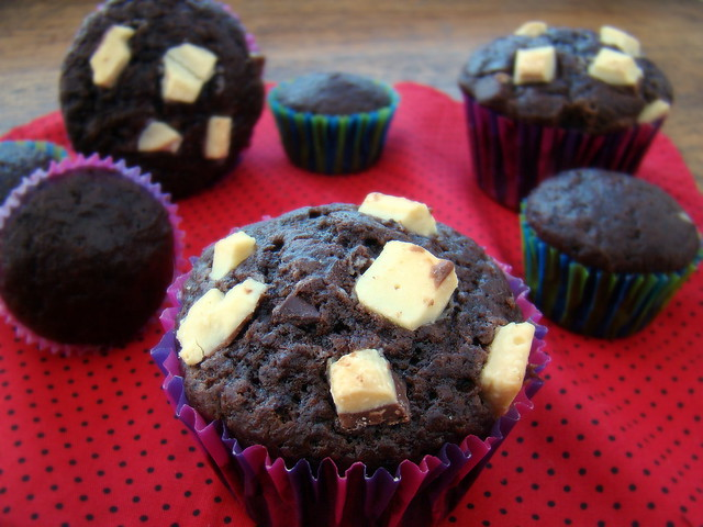 Muffin de Chocolate e Iogurte