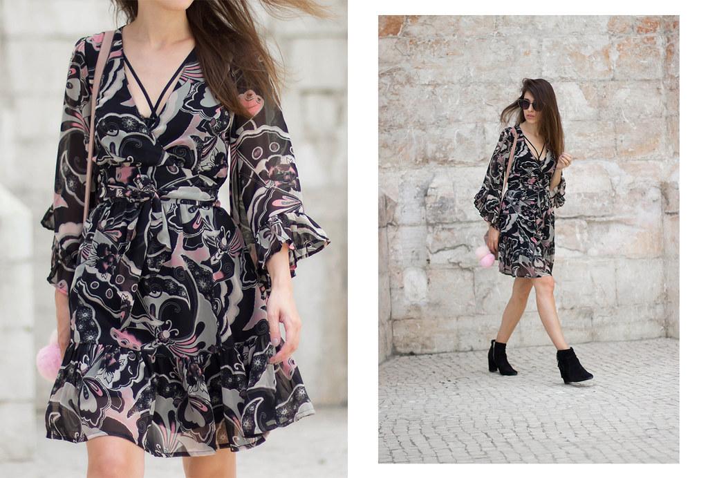 floral dress in Lisbon