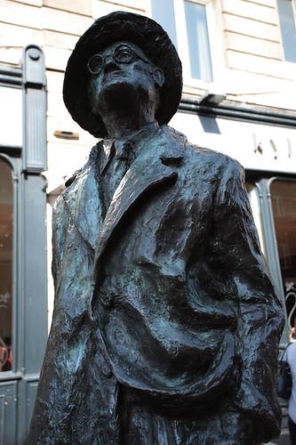 La statua di James Joyce