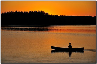 Fine evening for a paddle. | by A.J.A. Lewison