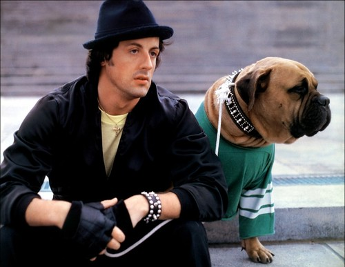 Rocky and Butkus in Rocky II. 1979.
