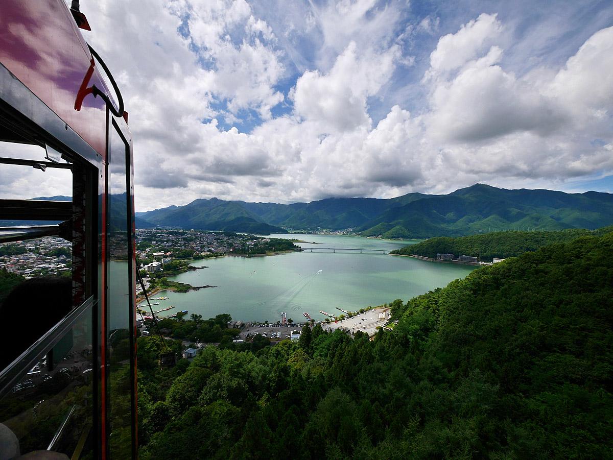 天上山公園纜車看河口湖