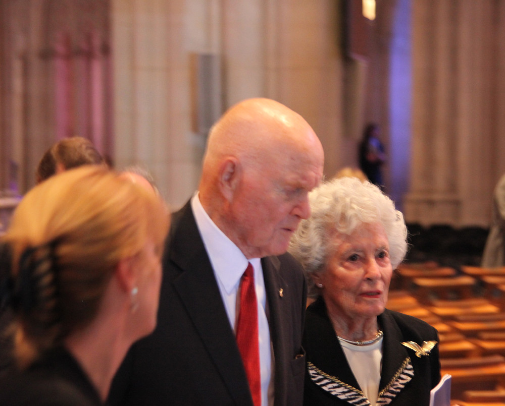 Senator John Glenn and wife - Neil Armstrong Memorial Service - 2012-09-13
