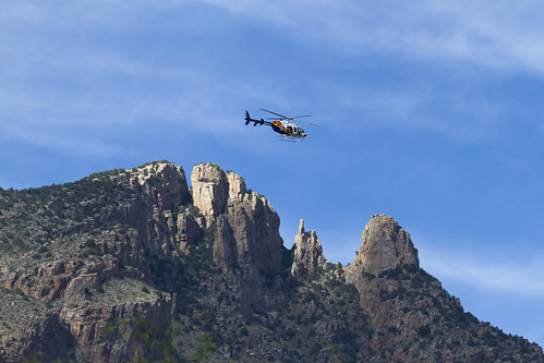 Helicopter Search and Rescue over Finger Rock