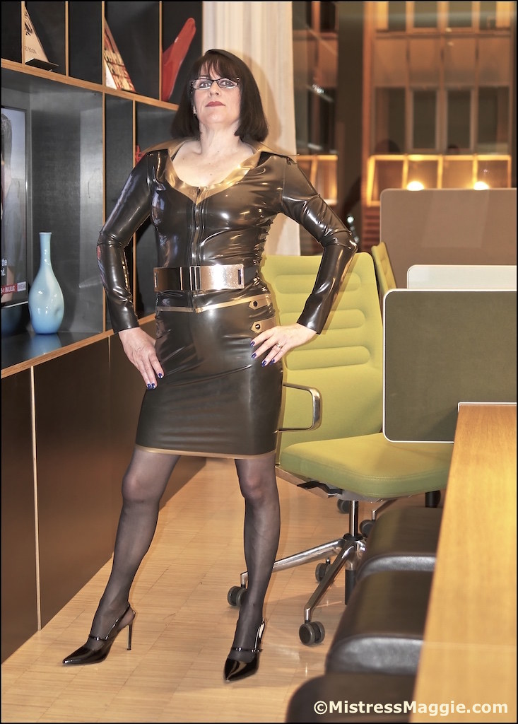 Mistress dresses leather