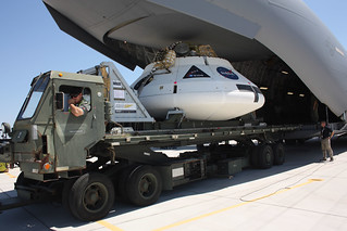 NASA Orion Drop Test Vehicle being loaded onto a C-17 at YPG Yuma Proving Ground | by MultiplyLeadership