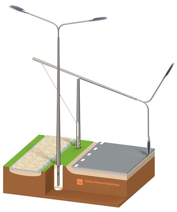 Металлические опоры для освещения