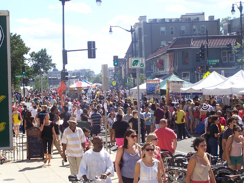 Lots of people at the Adams Morgan Day Festival