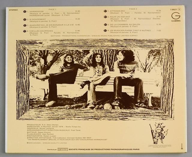 """HARMONIUM S/T SELF-TITLED ORIG FRANCE PROG FOC 12"""" LP VINYL ALBUM"""