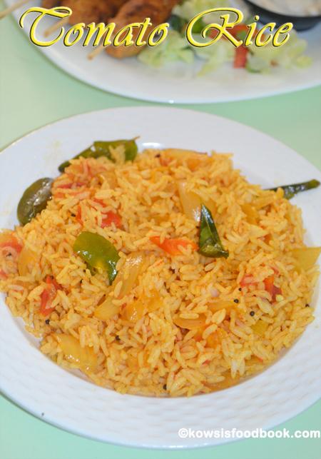 Tomato rice recipe thakkali sadam tomato bath kowsisfoodbook tomato rice recipe ccuart Choice Image