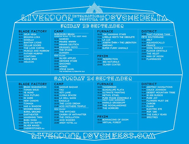Liverpool Psych Fest 2016 Times