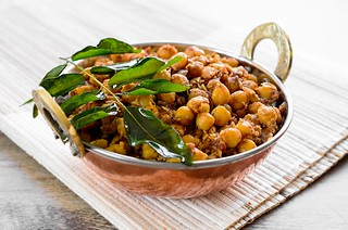 Chana Sukka (Sweet and Spicy Chickpea and Coconut Sauté) | by MichellePetersJones