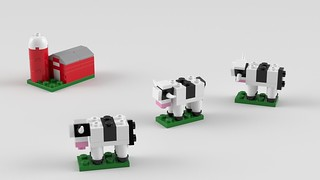 LEGO Cows and Barn