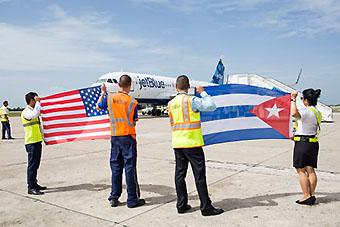 JetBlue inauguracion vuelos EEUU-Cuba (JetBlue)