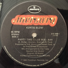 KURTIS BLOW:PARTY TIME(LABEL SIDE-A)