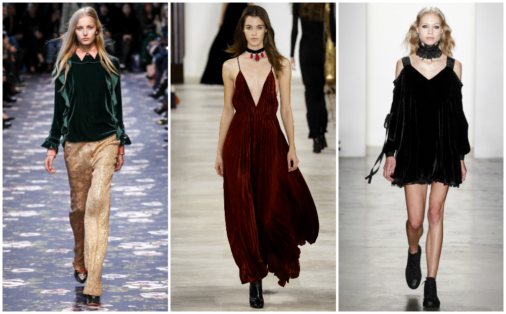Velvet Fall 2016 fashion trends