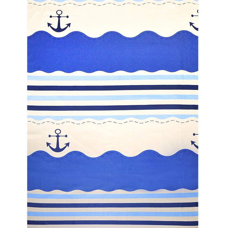 水手藍航向地中海(2.1尺一圖) 精梳棉床品床單布料 CA1190002