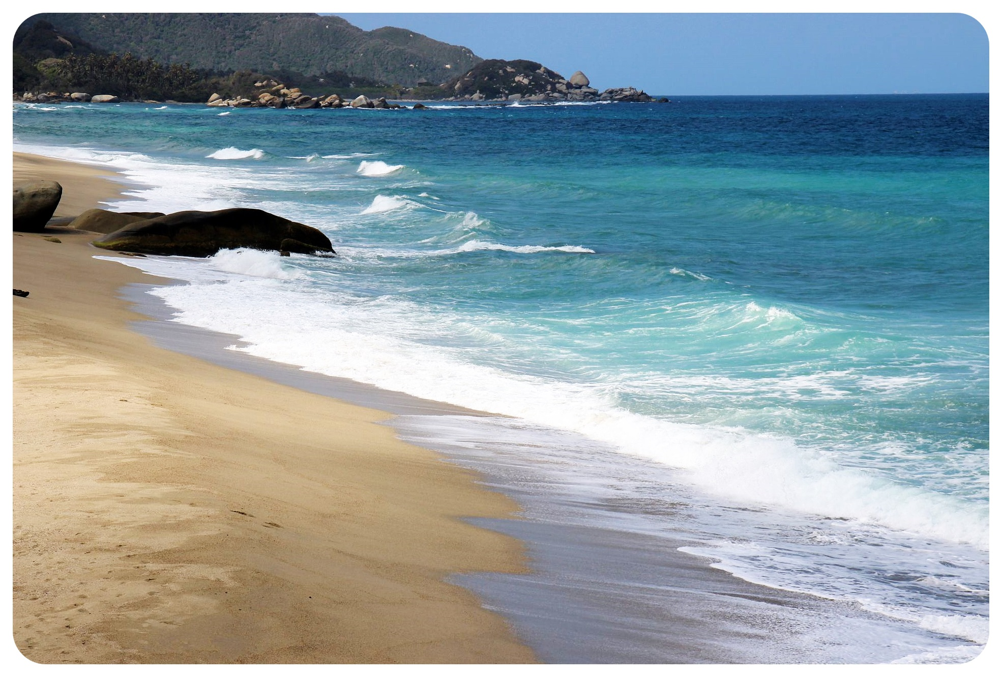 tayrona national park colombia ocean