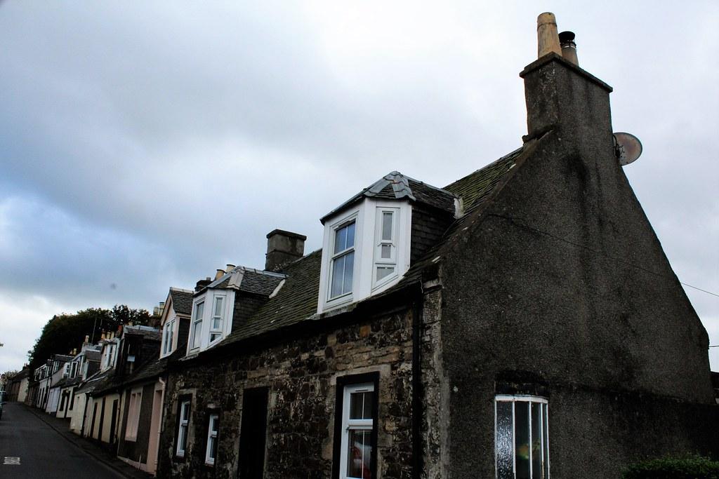 Main Street, Dunlop, Scotland.