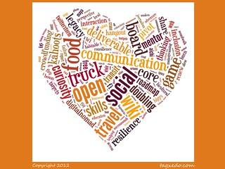 Buzzword Bingo: Heart Word Cloud @tagxedo